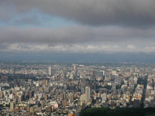 大倉山より札幌市街地を望む